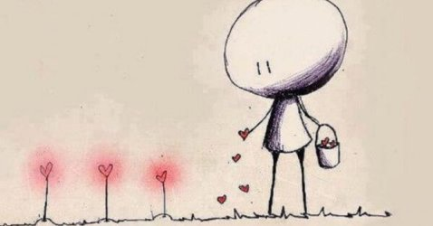 hombre-regando-con-amor-plantas-en-forma-de-corazon